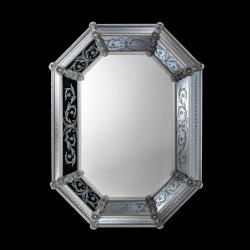 """Transparent """"Concetta"""" venetian mirror"""