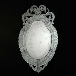 "Transparent ""Giorgia "" venetian mirror"