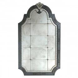 """Nicoletta "" espejo veneciano transparente"