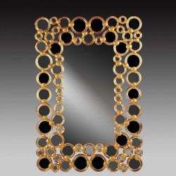 """Wanda "" miroir vénitien ambre"