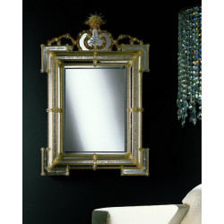 """Eliona"" espejo veneciano ámbar"