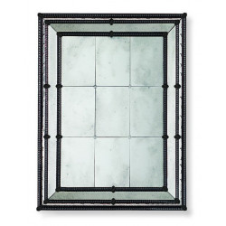 "Black ""Veronica"" venetian mirror"