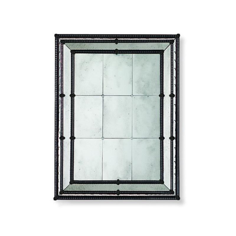 Black veronica venetian mirror venetian mirrors for Black venetian mirror