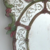 "Green and pink ""Sebastian"" venetian mirror"