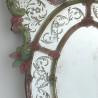"""""""Sebastian"""" espejo veneciano verde y rosa"""