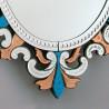 """""""Sprezzante"""" miroir vénitien multicolor"""