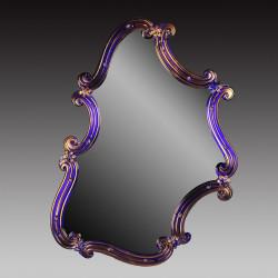 """Rosamunda Blu"" espejo veneciano azul"