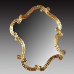 """Gold """"Rosamunda Oro"""" venetian mirror"""