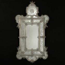 """Egidia"" espejo veneciano transparente"