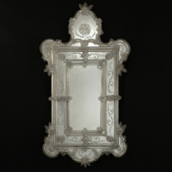 "Transparent ""Egidia"" venetian mirror"