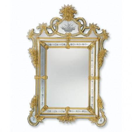 """""""Valentina"""" miroir vénitien ambre"""