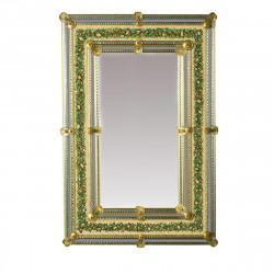 """""""Nicole """" espejo veneciano verde"""
