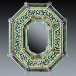 """""""Estella """" miroir vénitien vert"""