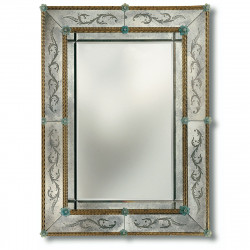 "Amber And Blue ""Angelica"" venetian mirror"