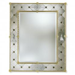 """""""Isotta"""" espejo veneciano ámbar"""