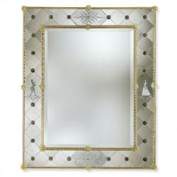 Promotions venetian mirrors for Miroir bordure doree