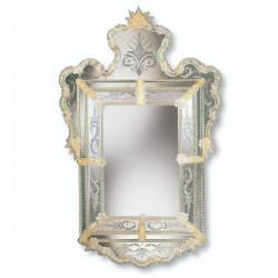 """Alberta"" espejo veneciano ámbar"