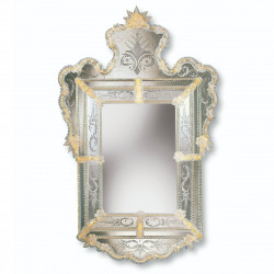 """Alberta"" miroir vénitien ambre"