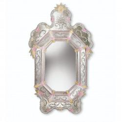 """Alina"" miroir vénitien or et rose"