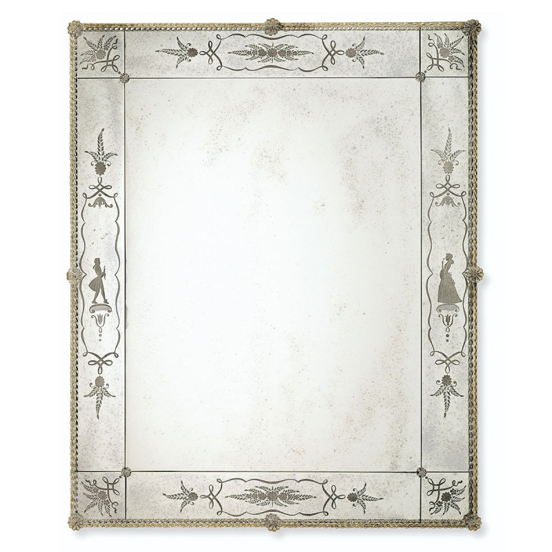 Flaviana miroir v nitien venetian mirrors for Miroir bordure doree
