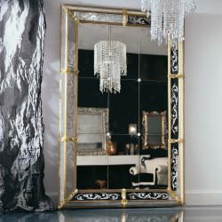"""Odetta"" espejo veneciano ámbar"