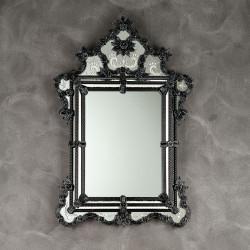 """Black """"Zelinda"""" venetian mirror"""