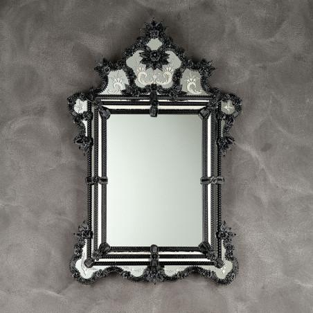 """Zelinda"" espejo veneciano negro"