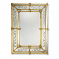 """""""Viola"""" espejo veneciano ámbar"""