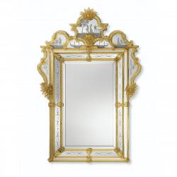 """""""Acilia"""" espejo veneciano ámbar"""