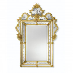 """Acilia"" miroir vénitien ambre"
