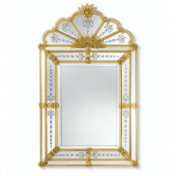 """""""Bernadetta"""" miroir vénitien ambre"""