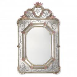 """""""Dafne"""" espejo veneciano oro y rosa"""