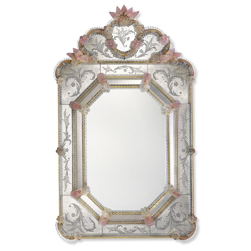 gold und rosa dafne venezianische spiegel venetian mirrors. Black Bedroom Furniture Sets. Home Design Ideas