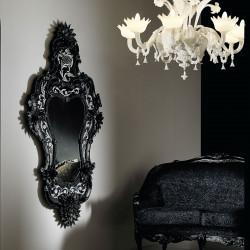 """""""Porzia"""" miroir vénitien noir"""