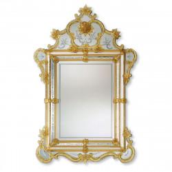 """""""Violante"""" espejo veneciano ámbar"""
