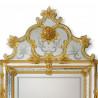 """""""Violante"""" miroir vénitien ambre"""