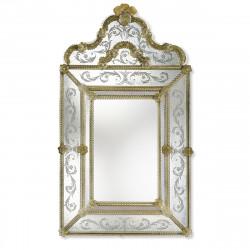 """Marianna"" espejo veneciano ámbar"
