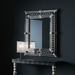 "Black ""Vania"" venetian mirror"