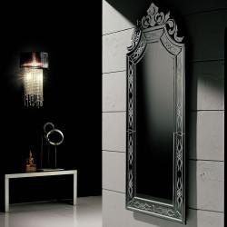 "Black ""Ornella"" venetian mirror"