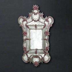"""Sofia"" espejo veneciano rosa"