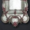 "Pink ""Sofia"" venetian mirror"