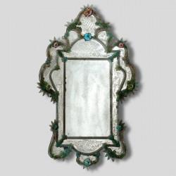"""""""Tamara """" miroir vénitien vert"""