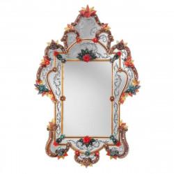 """Giulia"" espejo veneciano rojo"