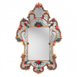 "Red ""Giulia"" venetian mirror"
