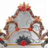 "Rot ""Giulia"" venezianische spiegel"