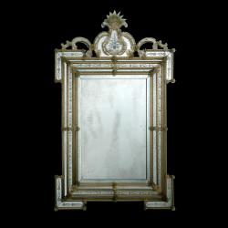 """Cleli"" miroir vénitien ambre"