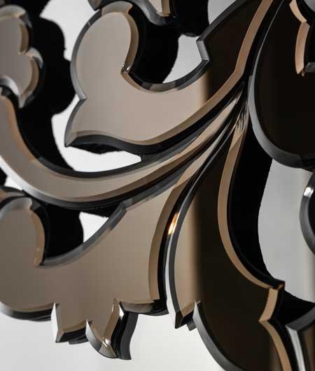 Miroirs vénitiens détail noir