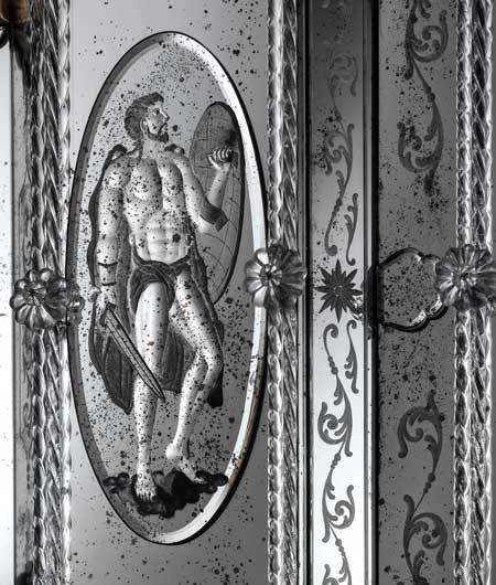 icône sur miroir de Murano